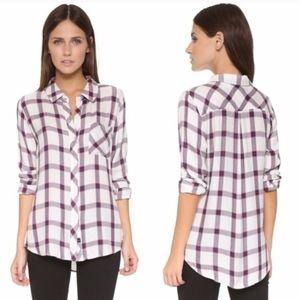 Rails Hunter Red White Blue Flannel Shirt Medium